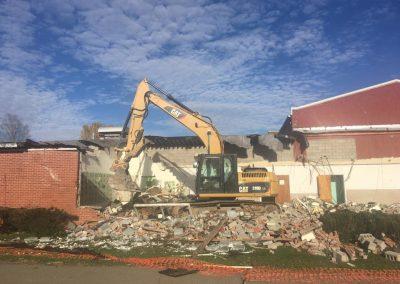 Backhoe demolition